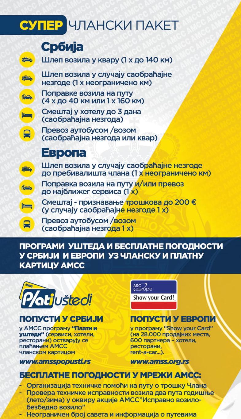 Prosport Auto - AMSS Super članska karta