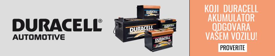 Ne znate koji Duracell akumulator odgovara Vašem vozilu. Ovde možete pronaći koji je to akumulator!!!